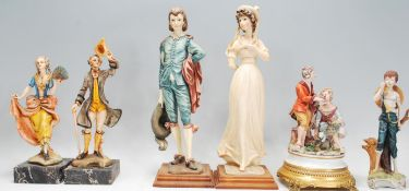 A group of Italian ceramic figurines to include a
