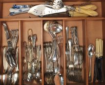 A collection of silver-plated flatware of good qua