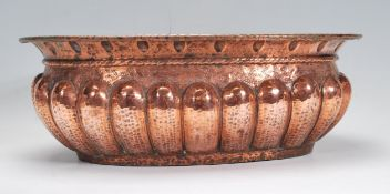 A 19th Century Victorian copper planter of ovular