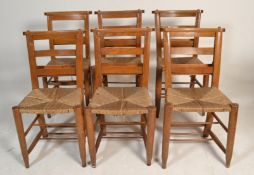 A set of 6 Victorian 19th century country beech wo