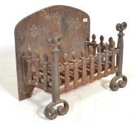 A late 19th Century Victorian cast iron fire grate