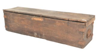 A 19th Century Victorian pine cased croquet set co
