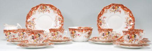 An early 20th century Wellington China part tea se