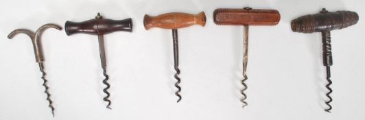 A group of cork screws dating from the 19th Centur