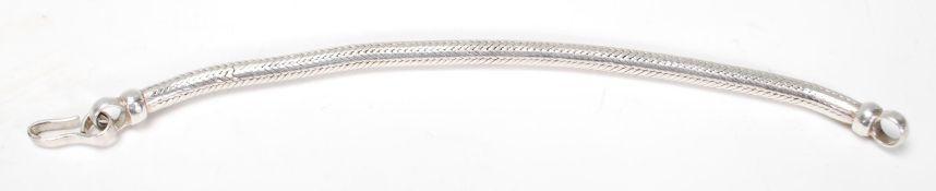 A stamped 925 large snake chain bracelet having a