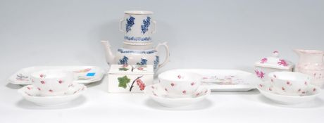 A collection of ceramics to include Plichta London