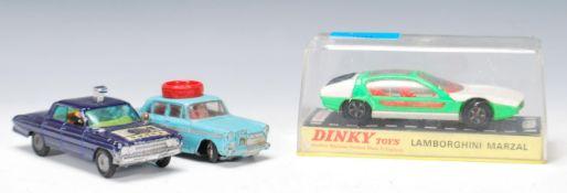 Three vintage 20th Century diecast model toy cars