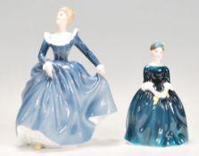 Two Royal Doulton bone china ceramic figurines, th