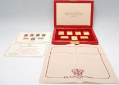 THE CORONATION ISSUE of seven replica stamps. Limi