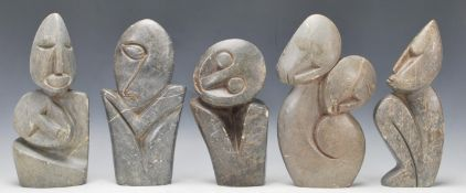 A collection of mid to late 20th century African c