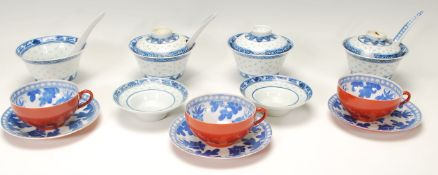 A collection of Chinese ceramics to include blue a