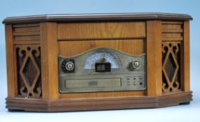 A contemporary 20th Century wooden cased Hi - Fi s