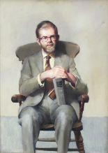 Lot 15 - •R O Lenkiewicz (1941-2002) PORTRAIT OF JOHN WRIGHT MA, AREA EDUCATION OFFICER, WEST DEVON