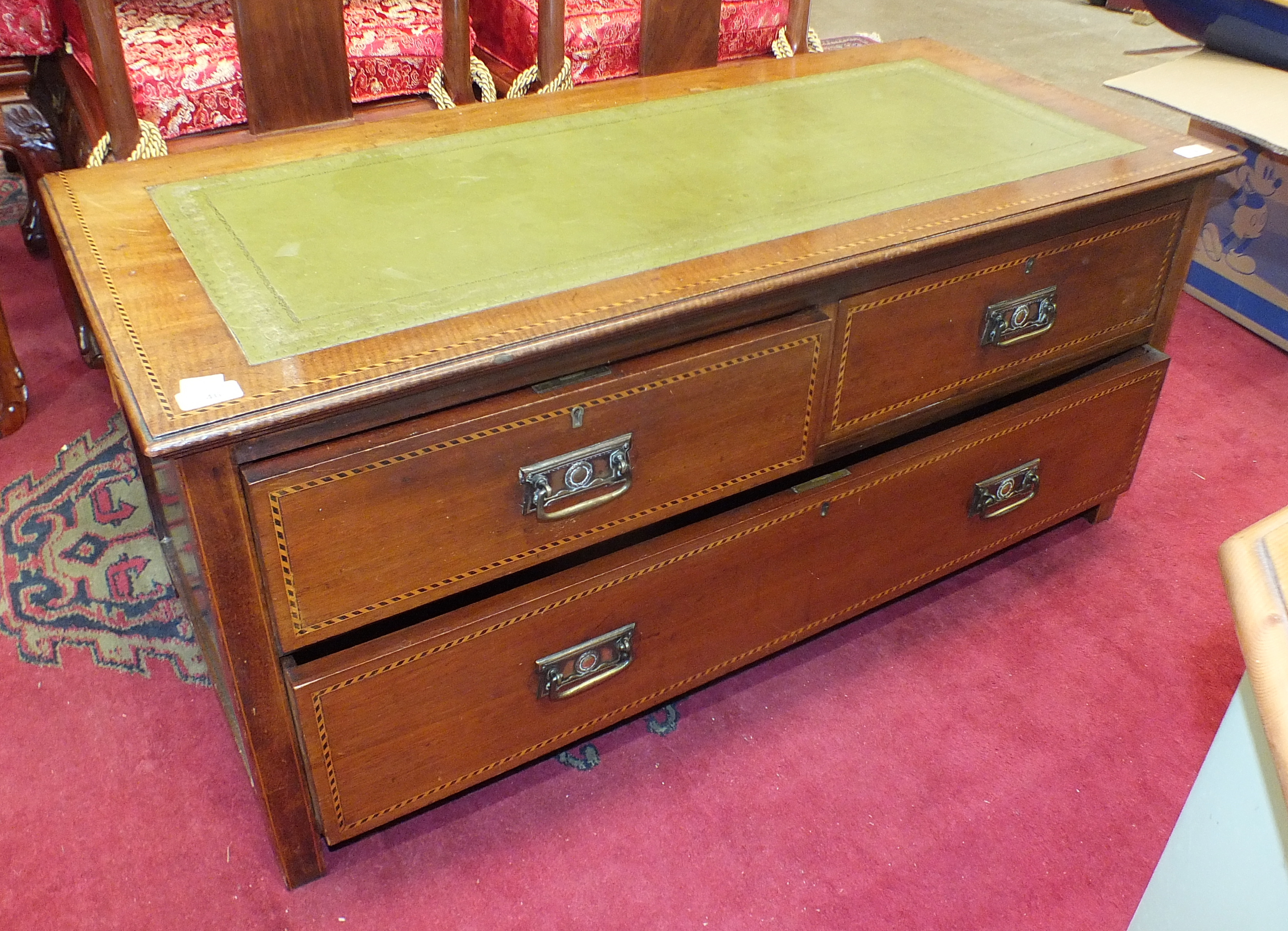 Lot 46 - A similar chest/table, 106cm wide, 46cm high.