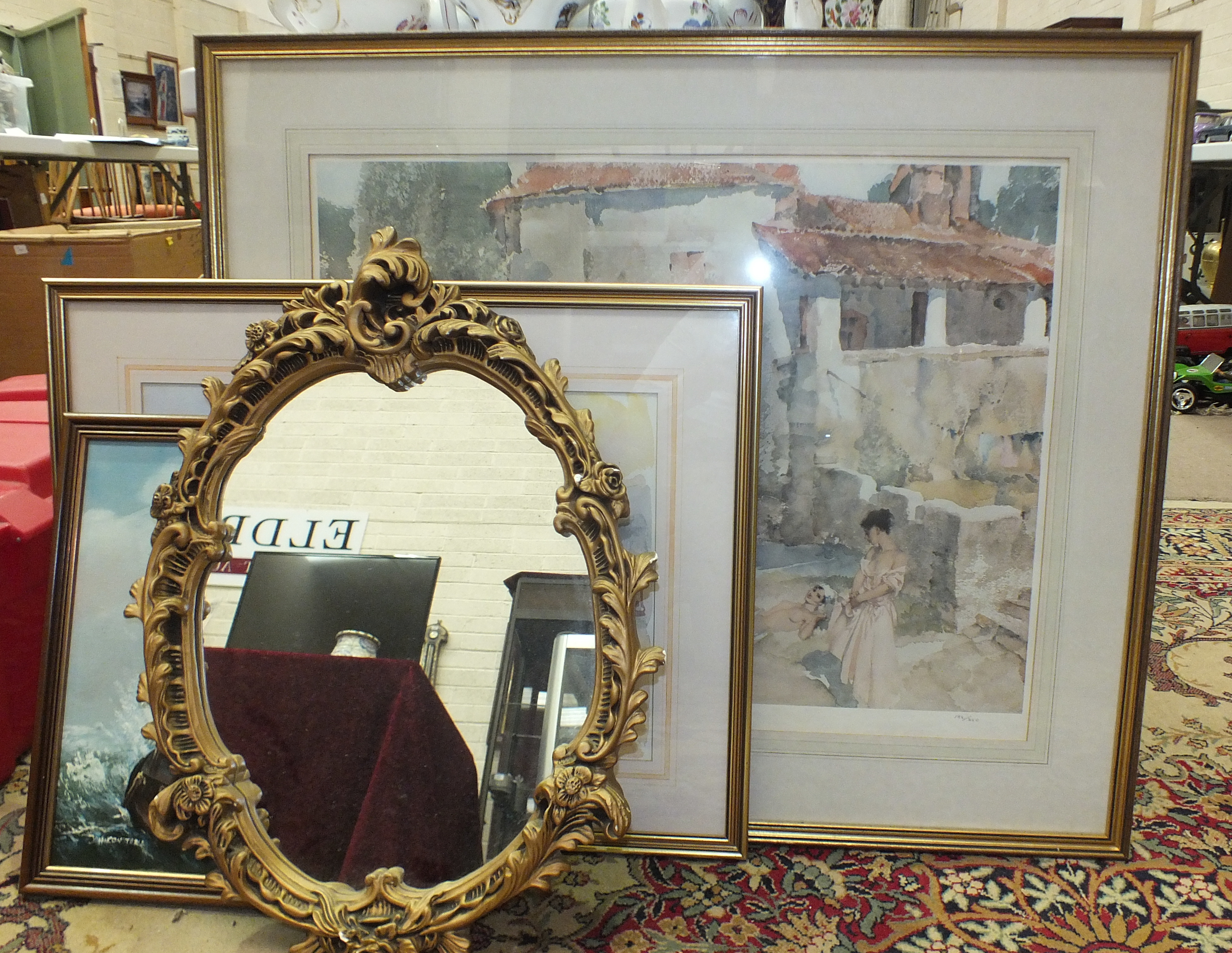 Lot 118 - Sir William Russell Flint RA, a coloured print 'Mill Pool St Jean du Cole', limited-edition 186/850,