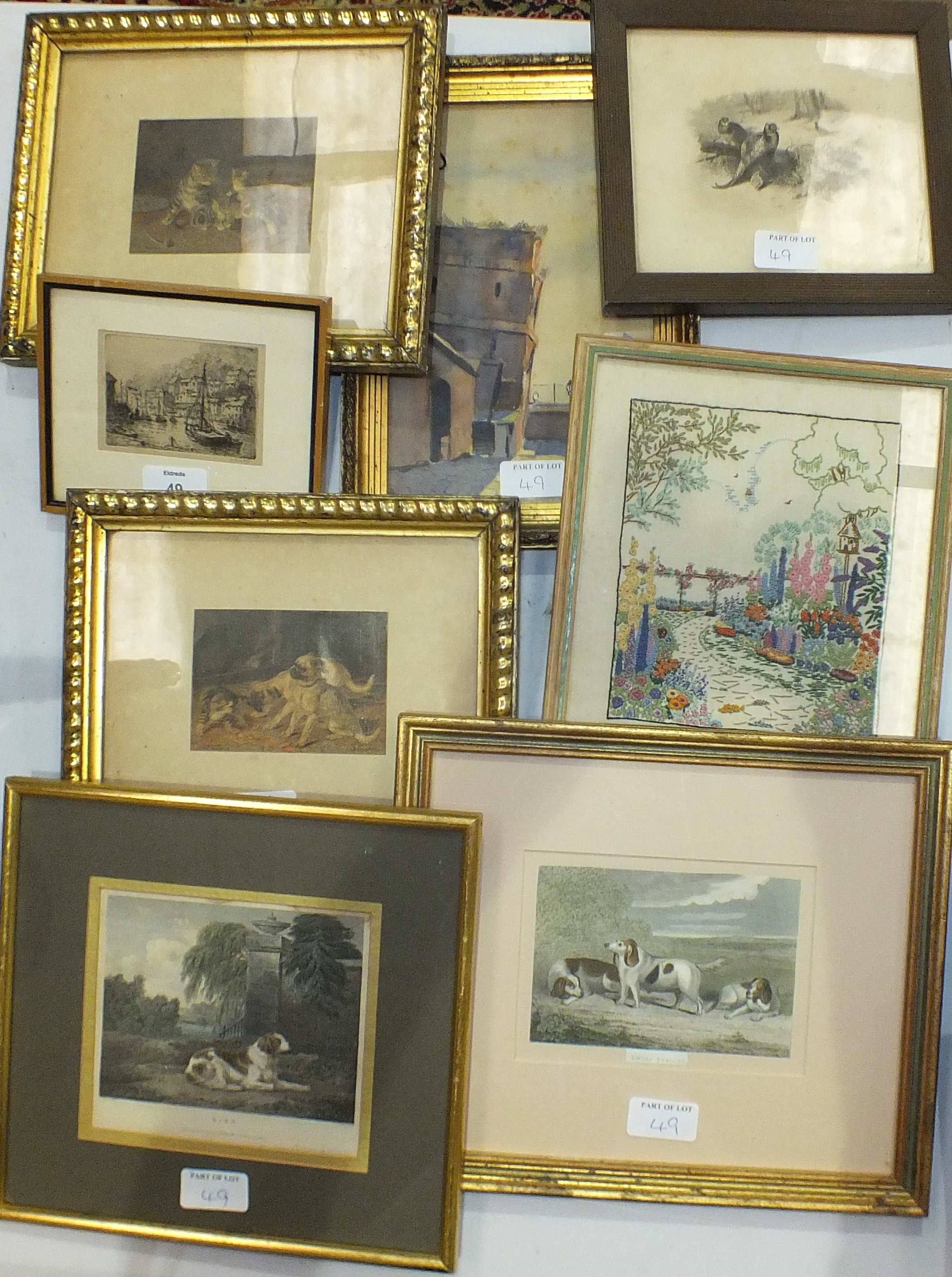 Lot 114 - Various pictures, prints and other items.