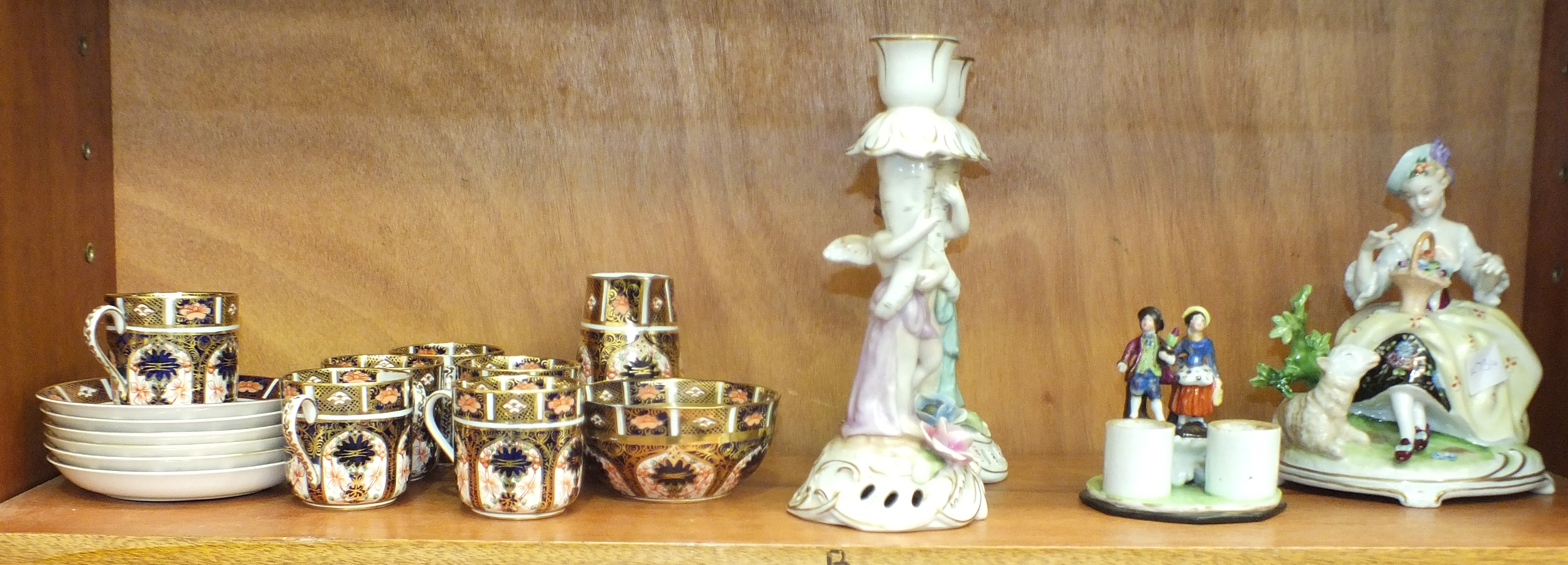 Lot 139 - A Royal Crown Derby coffee service, comprising six each coffee cans and saucers, cream jug and