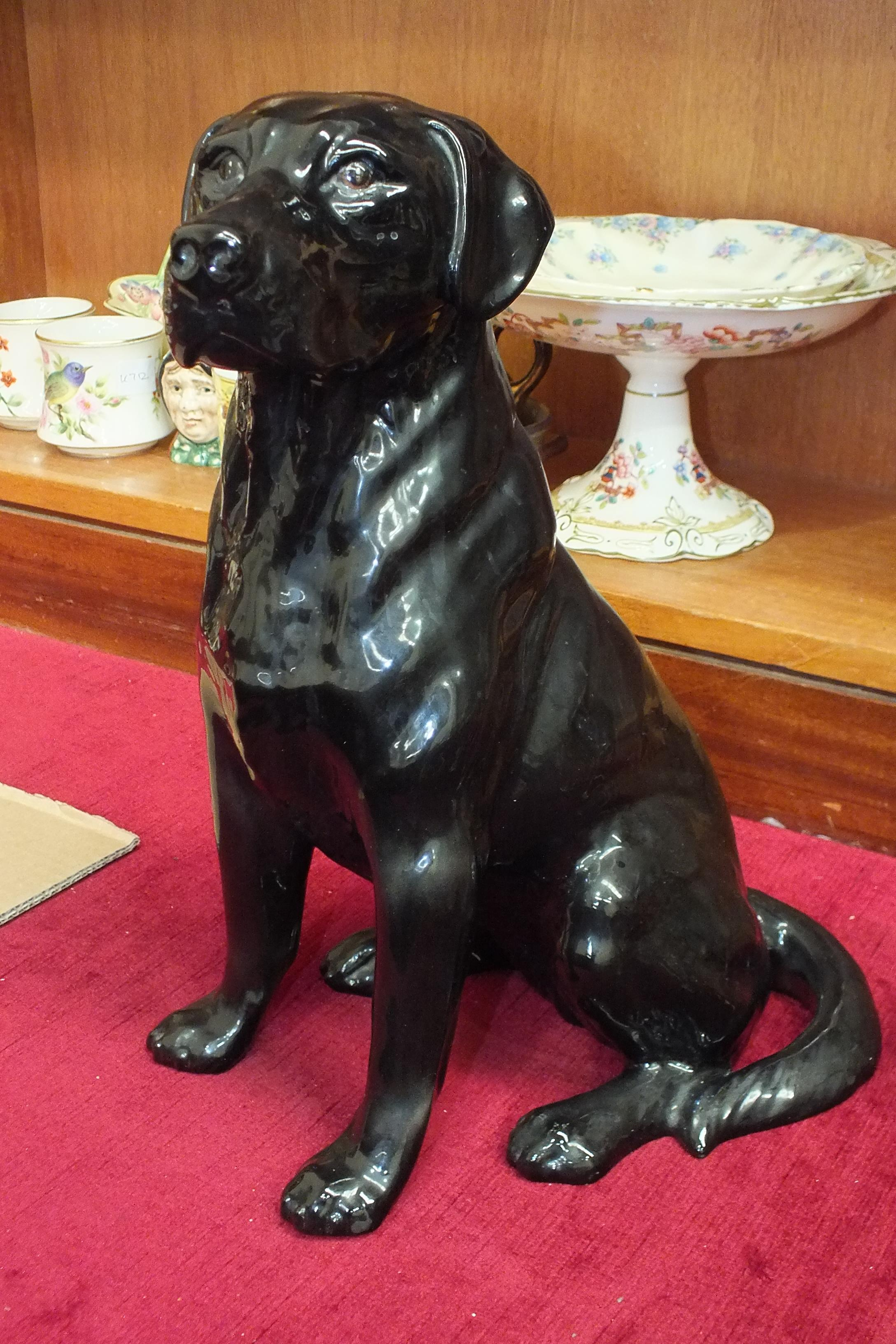 Lot 133 - A Beswick large model of a Black Labrador 2314, 34cm high.