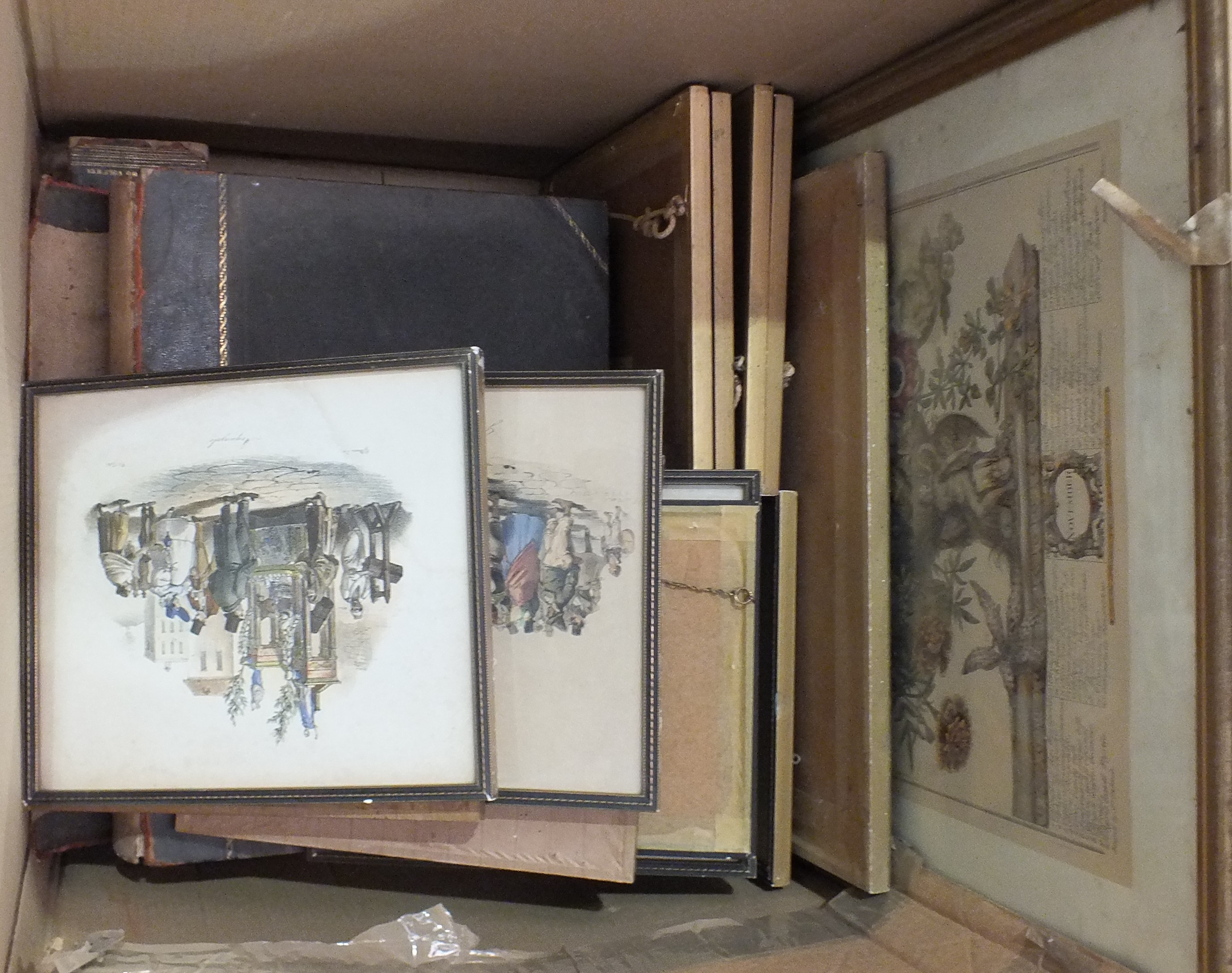 Lot 108 - A collection of furnishing prints and engravings and two volumes of the Works of Shakespeare,