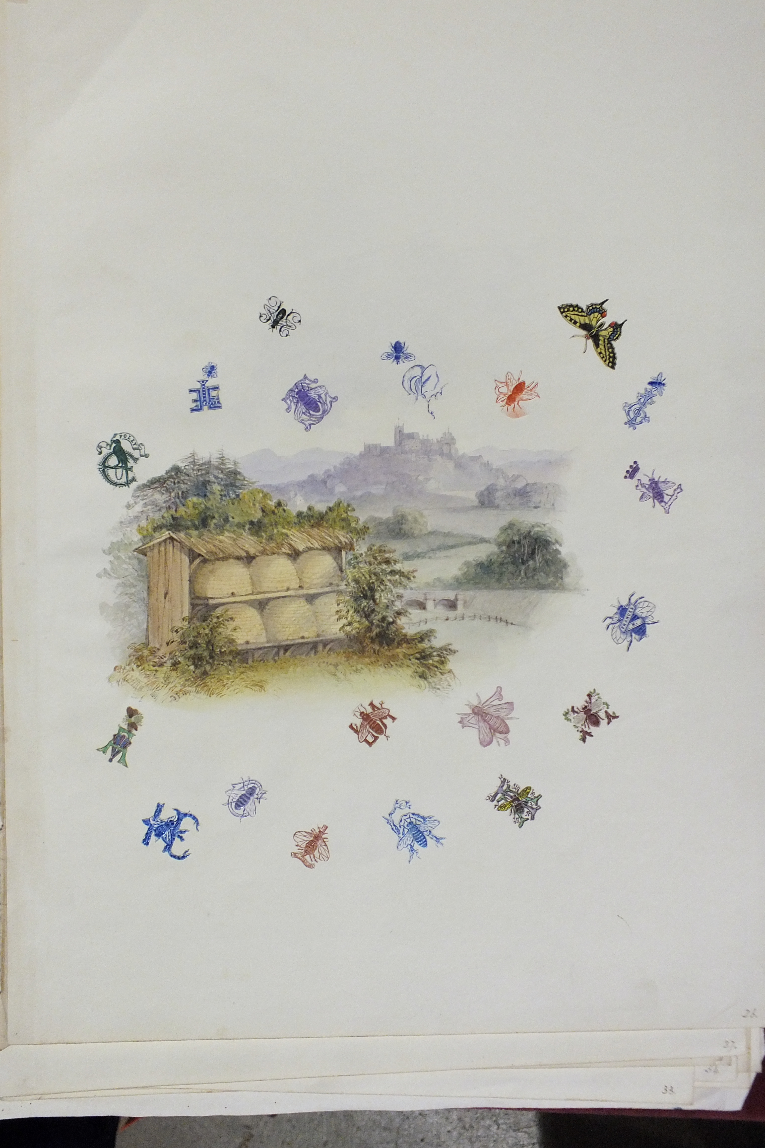Lot 100 - A Victorian collection of embossed paper coats of arms, crests and monograms cut from envelopes