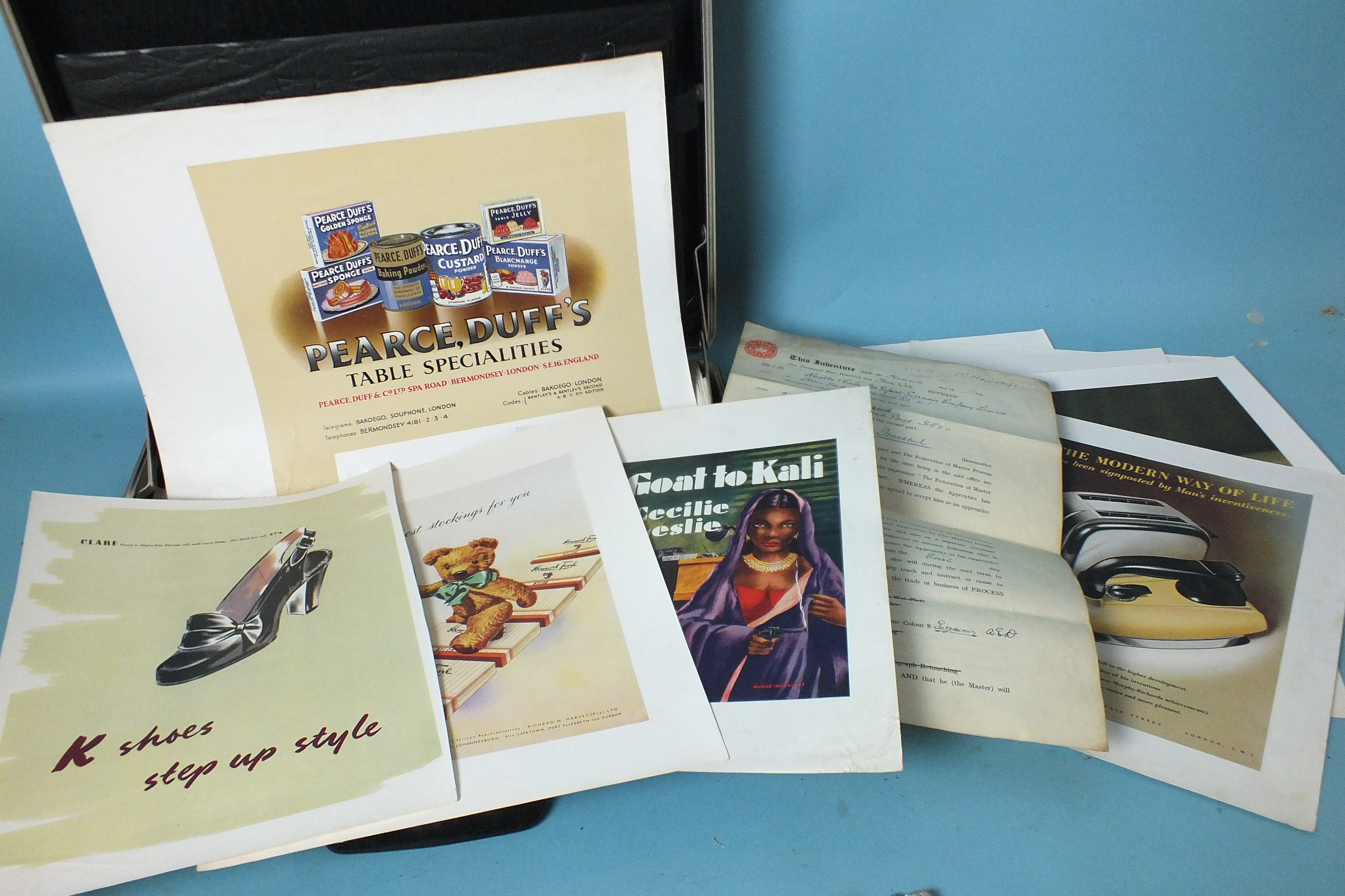 Lot 99 - Approximately 80 chromolithographs designed by Osborn R Townsend, c1940's-50's, mainly advertising