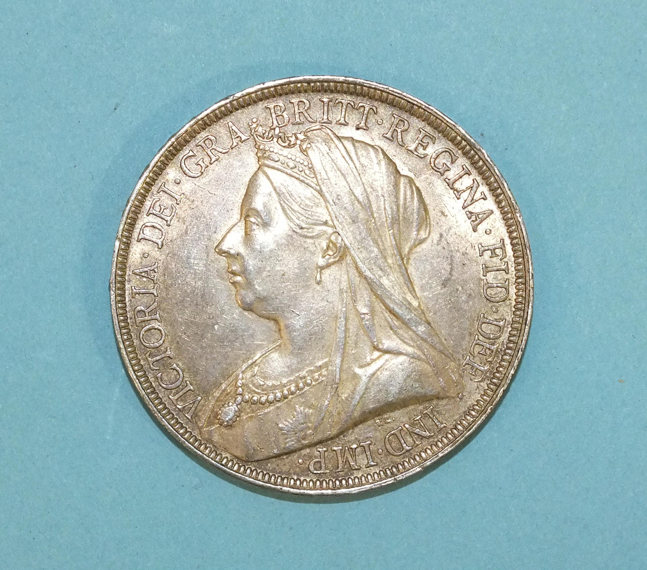 Lot 168 - A Victoria 1893 crown, LVI.