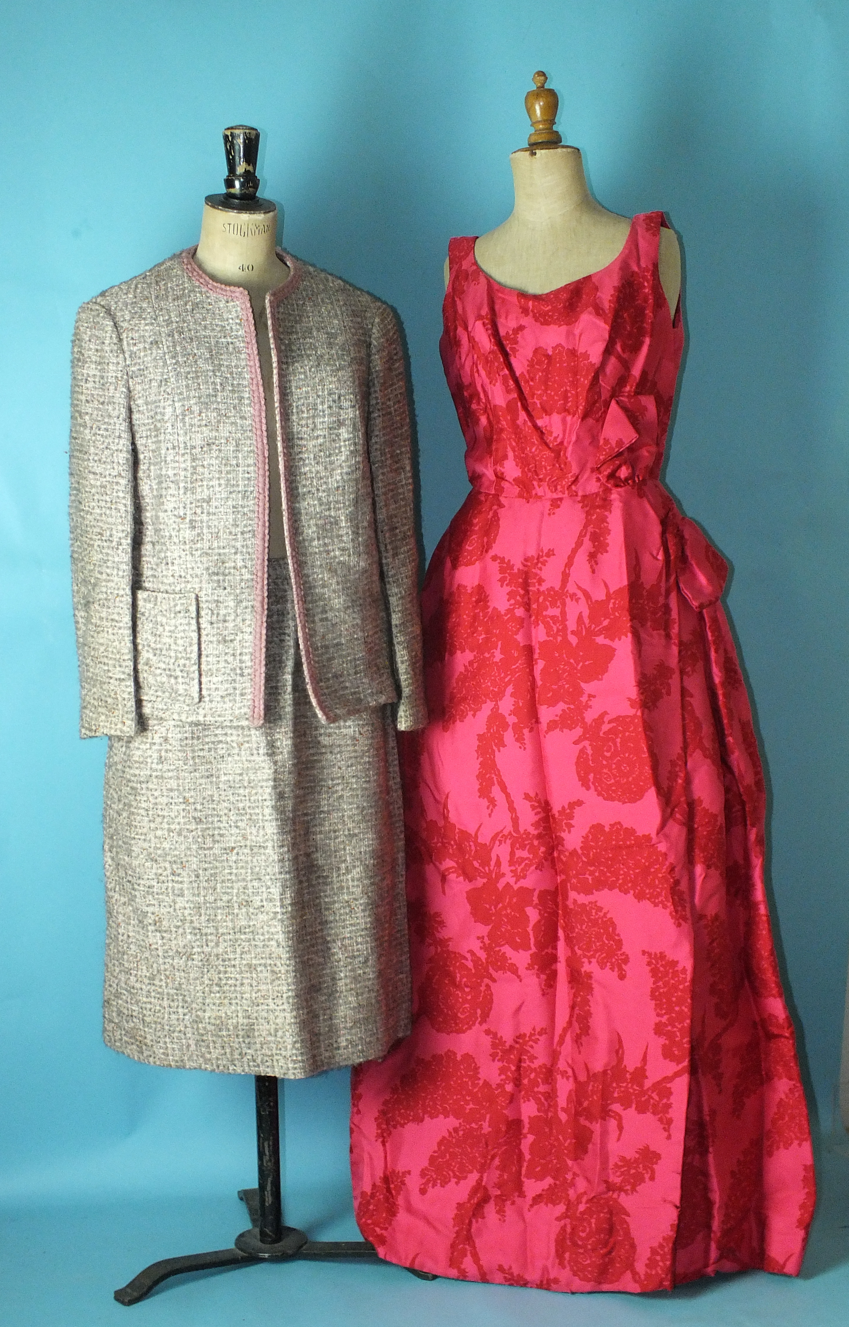 Lot 529 - Vintage clothing: A Saks Fifth Avenue eau de nil dress and jacket, (unworn, still with labels and