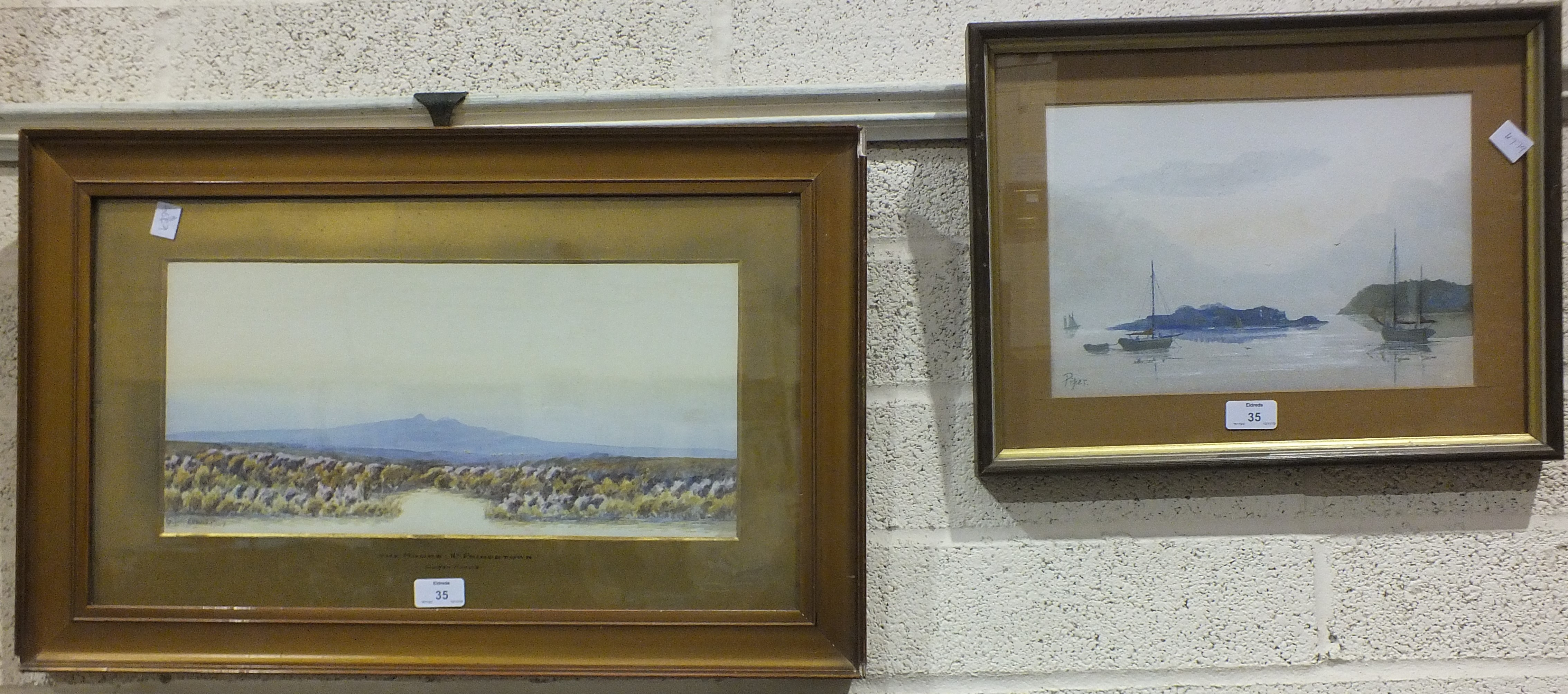 Lot 35 - Colton Robbins, 'The Moor near Princetown', watercolour, signed and dated 1907, titled on the mount,