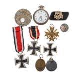 Deutsches Reich 1933-1945 - Konvolut mitEisernem Kreuz 2. Klasse 1939, Schutzwall Ehrenzeichen,
