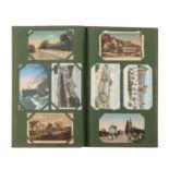 Postkartenalbum, Süddeutschland 1.H. 20.Jh. -Großformatiges Album mit zahlreichen Postkarten und