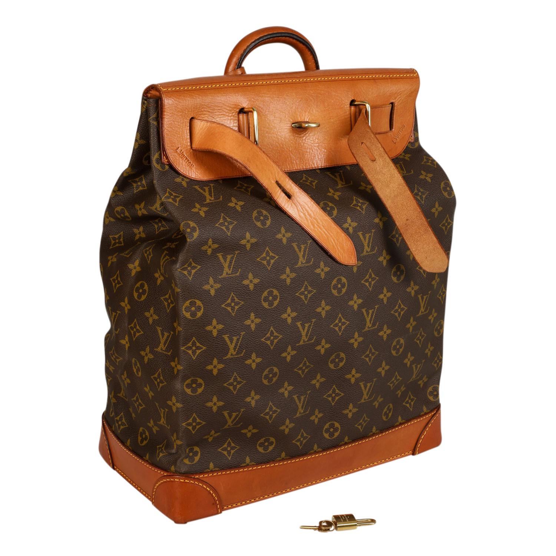 """Lot 49 - LOUIS VUITTON VINTAGE Reisetasche """"STEAMER 35"""".Wohl aus den 60er Jahren. Sonderanfertigung mit 35cm."""