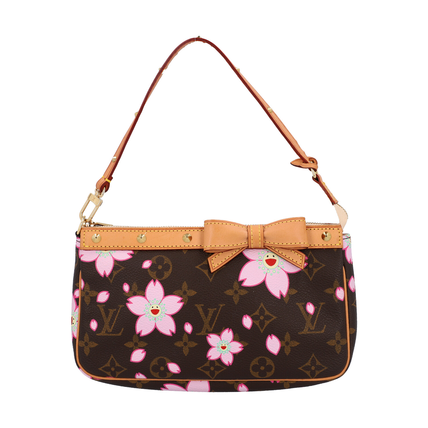 "Lot 15 - LOUIS VUITTON Pochette ""POCHETTE ACCESSOIRES"", Koll.: 2003.Cherry Blossom Kollektion Monogram Canvas"