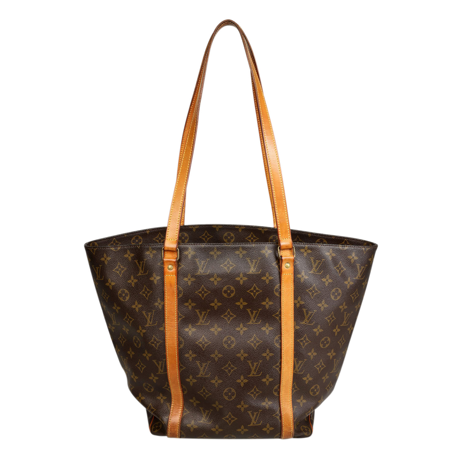 Lot 13 - LOUIS VUITTON VINTAGE Shoppertasche.Monogram Canvas Serie mit Rindsleder-Details, Doppelhenkel und