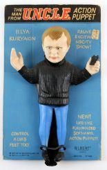 Lot 1024 - The Man From U.N.C.L.E. - Gilbert Illya Kuryakin Action Puppet from 1965, 16603, Original card, 13