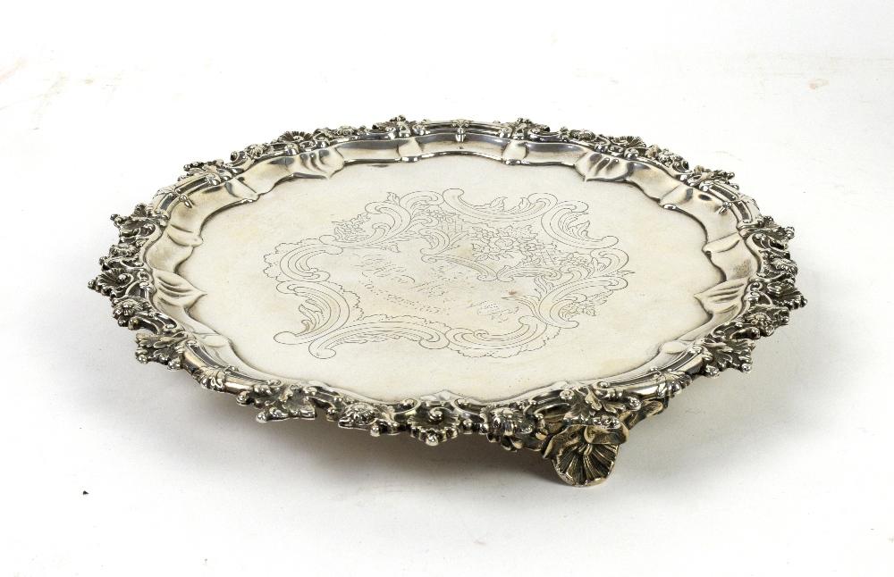 Lot 2037A - AMENDED DESCRIPTION William IV Scottish silver salver, by James McKay, Edinburgh 1831, the shaped