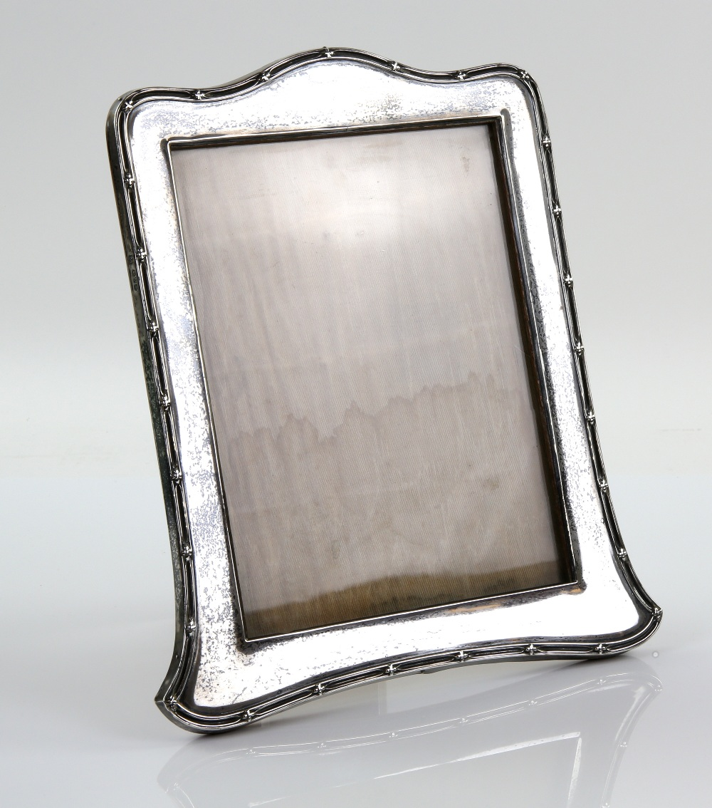 Lot 2010A - George V silver octagonal bowl, marks rubbed, photograph frame, condiment set, napkin rings, etc.,.