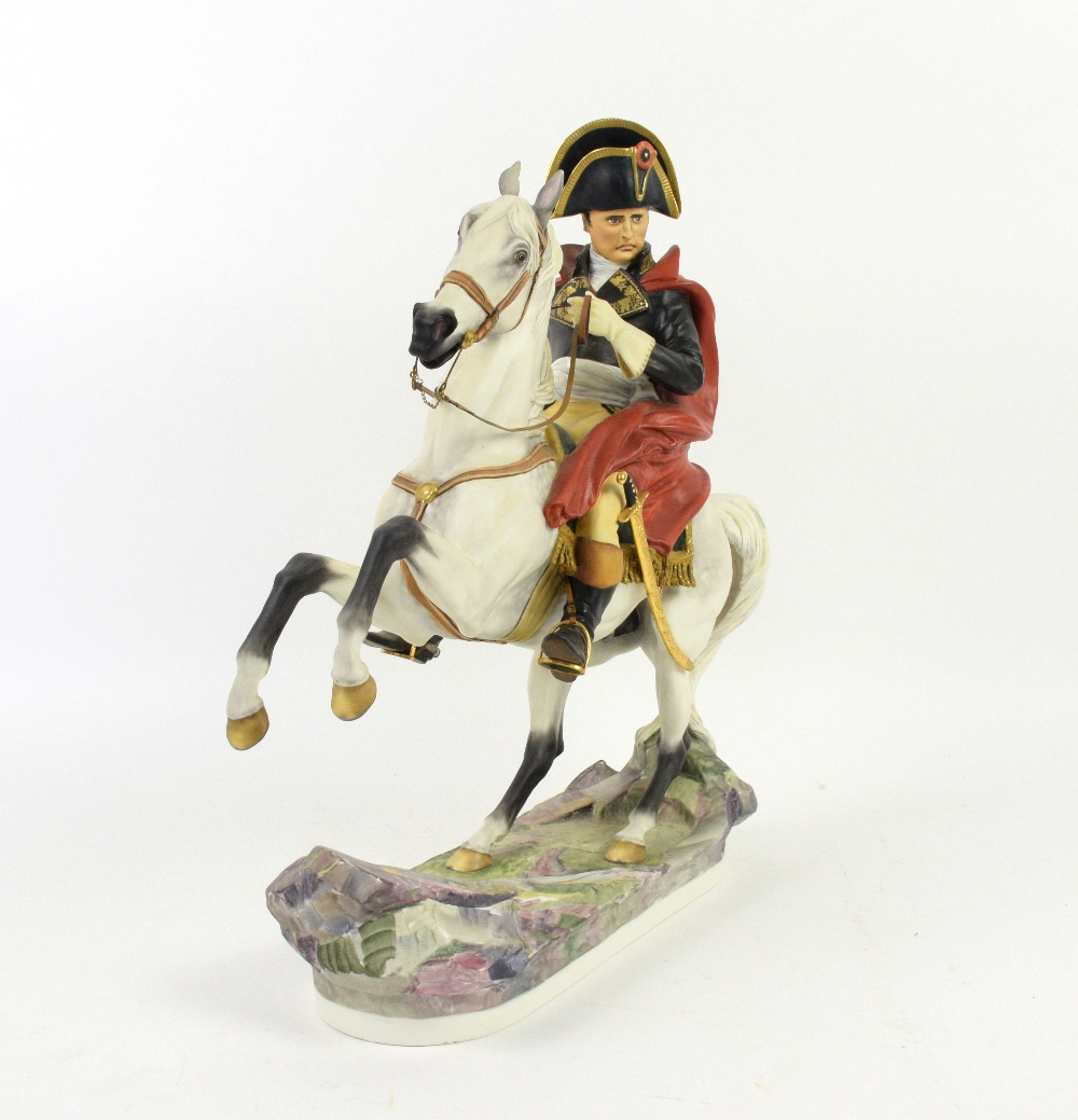 Lot 3008 - Royal Worcester limited edition figure of Napoleon Bonaparte one of the series of Famous Military