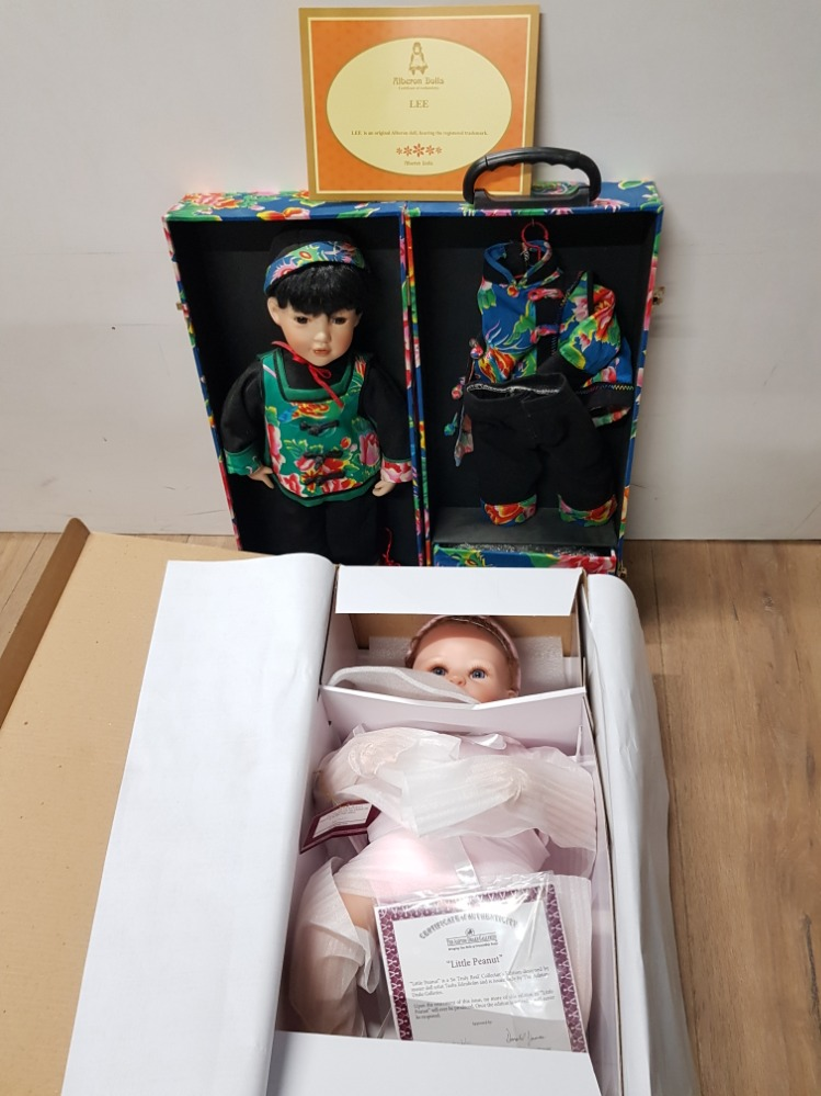 Lot 43 - BOXED DOLL FROM ASHTON DRAKE GALLERIES LITTLE PEANUT PLUS ORIENTAL STYLE DOLL BY ALBERON DOLLS