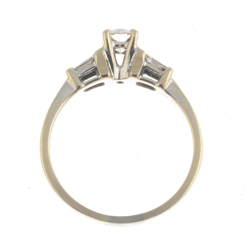 Lot 37 - An 18ct gold diamond single-stone ring.