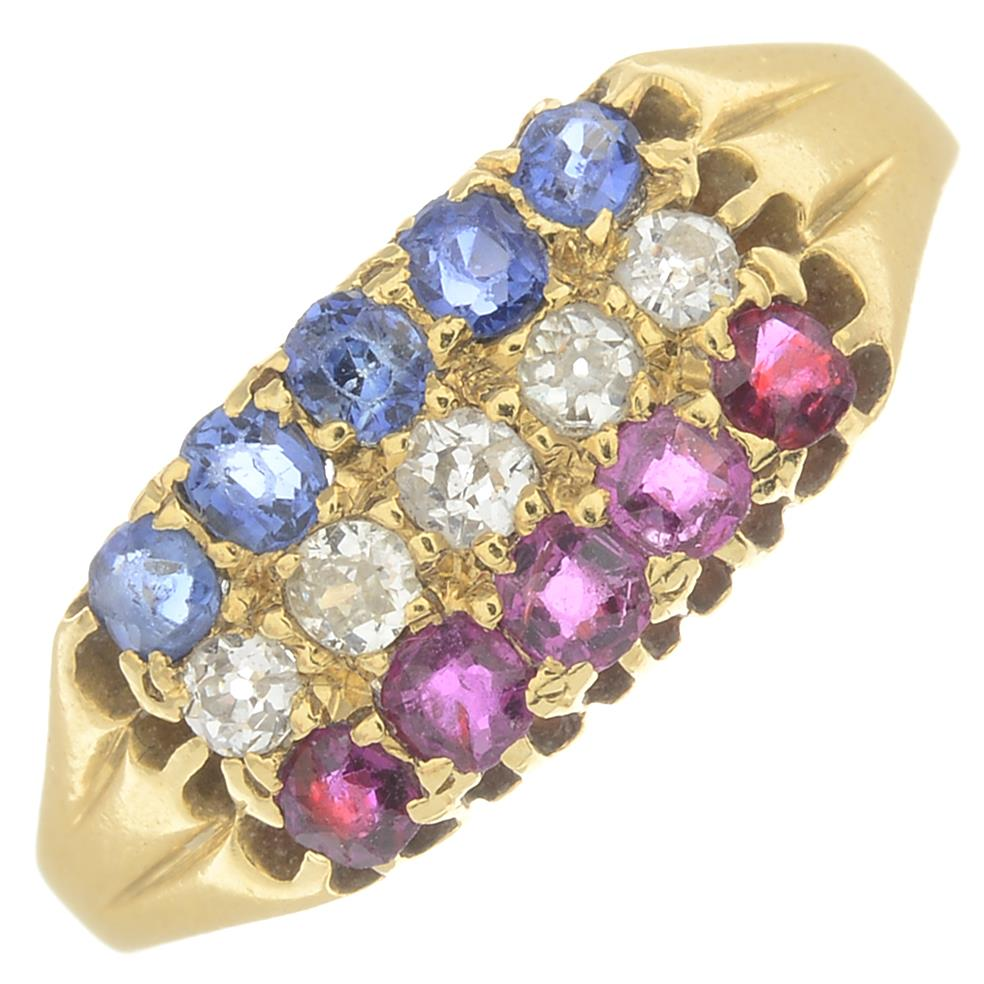 Lot 46 - An Edwardian 18ct gold ruby,