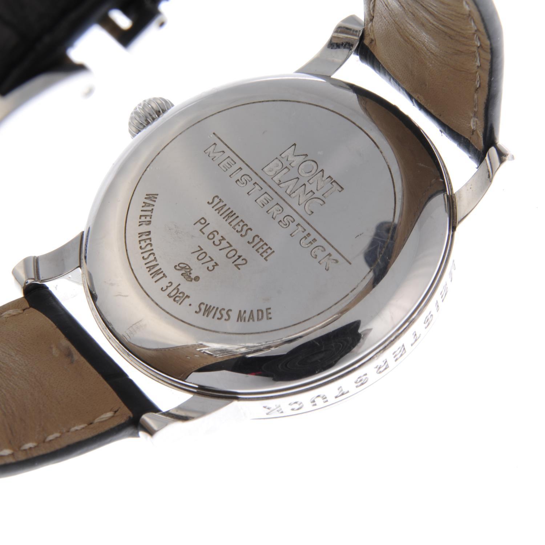 Lot 183 - MONTBLANC - a gentleman's Meisterstück wrist watch. Stainless steel case. Reference 7073, serial