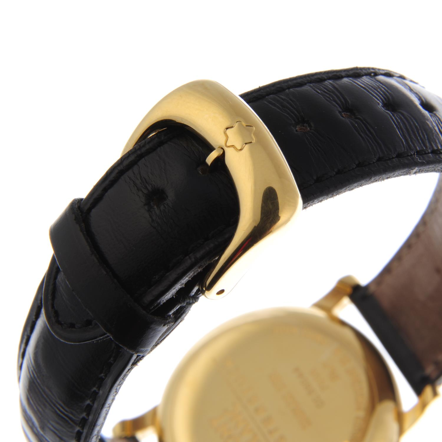 Lot 181 - MONTBLANC - a gentleman's Meisterstück wrist watch. Gold plated case. Reference 7003, serial
