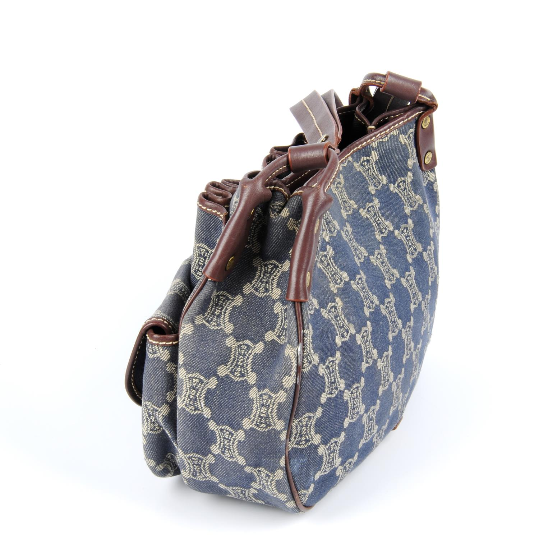Lot 36 - CÉLINE - a Macadam denim handbag.