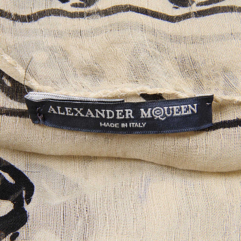 Lot 3 - ALEXANDER MCQUEEN - a silk chiffon skull scarf.