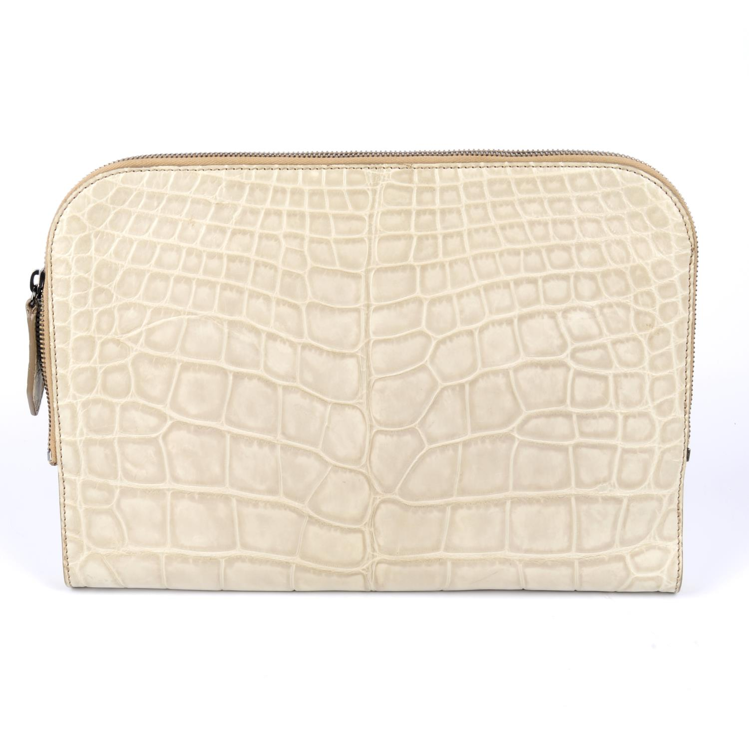 Lot 17 - BURBERRY - an alligator laptop/document cover.