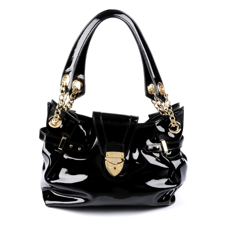 Lot 6 - ASPINAL LONDON - a patent leather Barbarella handbag.