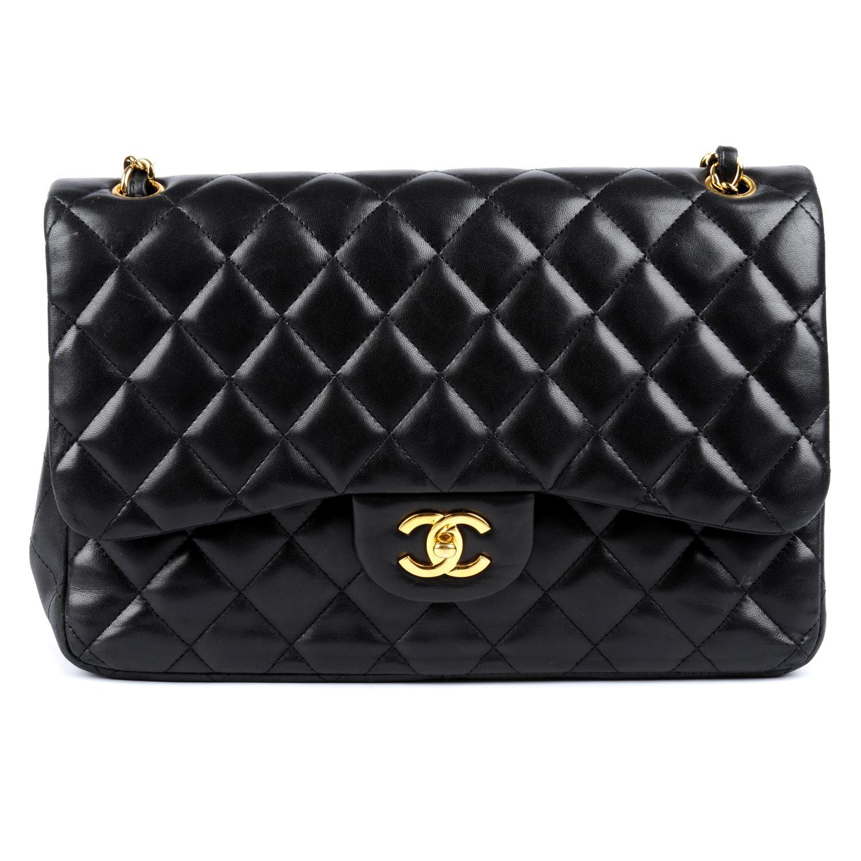 Lot 53 - CHANEL - a Jumbo Classic Double Flap handbag.