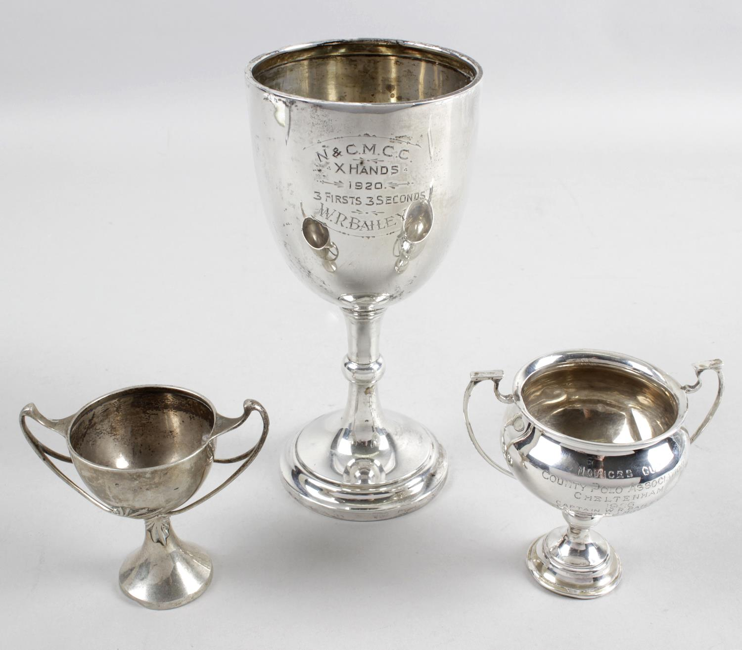Lot 164 - Three silver trophies,