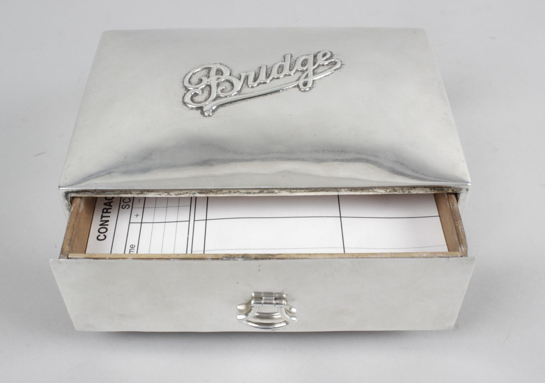 Lot 138 - An early twentieth century silver mounted Bridge box,