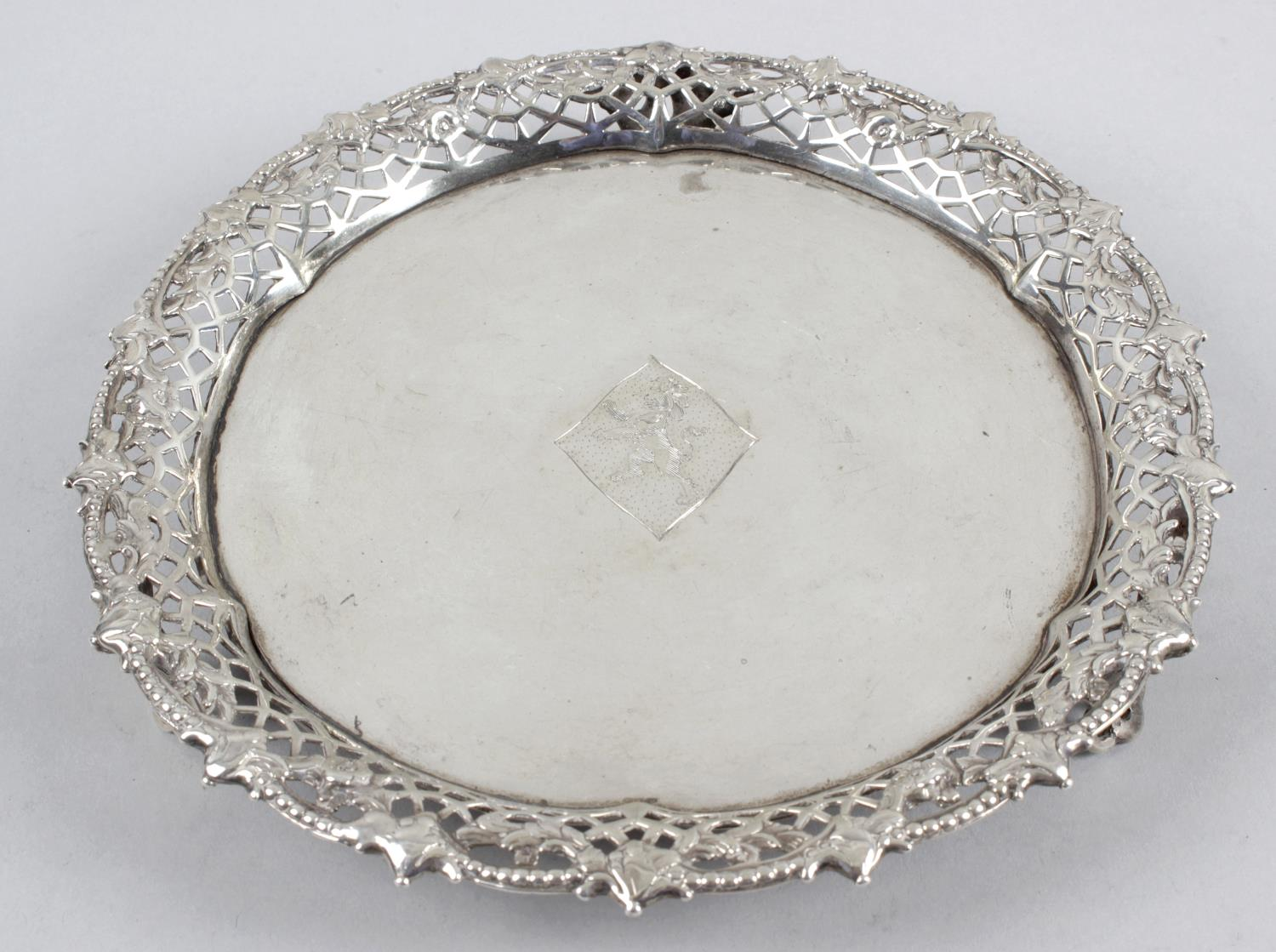 Lot 53 - A late George II small silver salver,